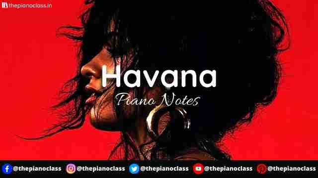 Havana Piano Notes - Camila Cabello ft Young Thug