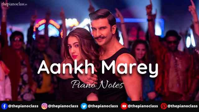 Aankh Marey Piano Notes - SIMMBA