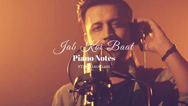 Jab Koi Baat Piano Notes