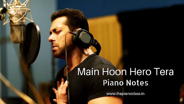 Main Hoon Hero Tera Piano Notes