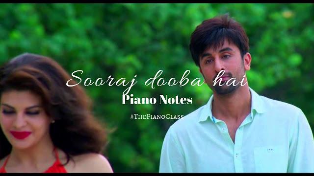 Sooraj Dooba Hai Piano Notes