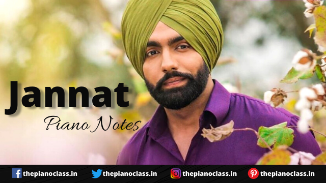Jannat Piano Notes ( Sufna ) - B Praak