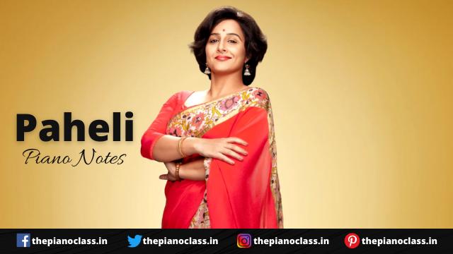 Paheli Piano Notes - Shakuntala Devi