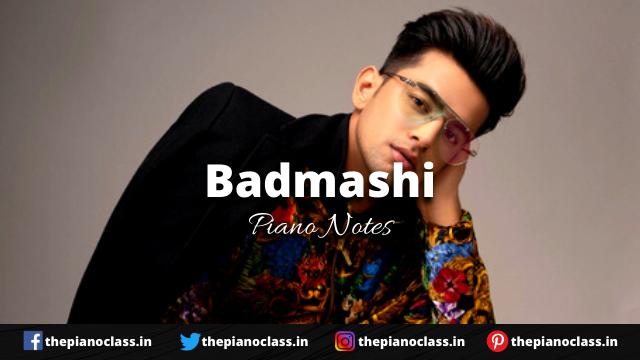Badmashi Piano Notes - Jass Manak, Gurlez Akhtar
