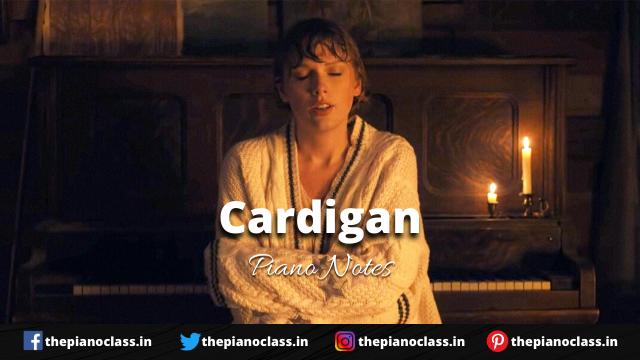 Cardigan Piano Notes - Taylor Swift