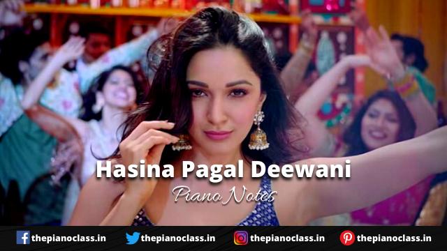 Hasina Pagal Deewani Piano Notes - Indoo Ki Jawani
