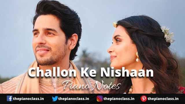 Challon Ke Nishaan Piano Notes - Stebin Ben