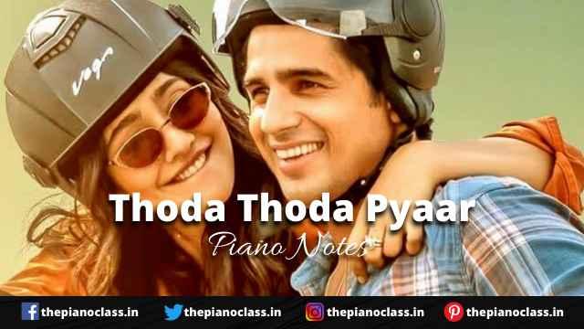 Thoda Thoda Pyaar Piano Notes - Stebin Ben