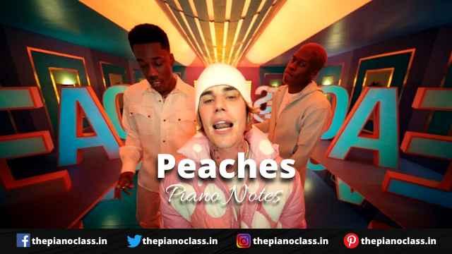 Peaches Piano Notes - Justin Bieber