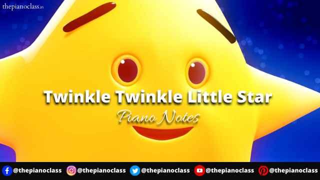 Twinkle Twinkle Little Star Piano Notes
