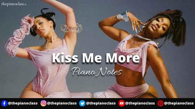 Kiss Me More Piano Notes - Doja Cat