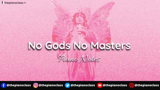 No Gods No Masters Piano Notes - Garbage