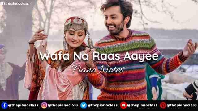 Wafa Na Raas Aayee Piano Notes - Jubin Nautiyal