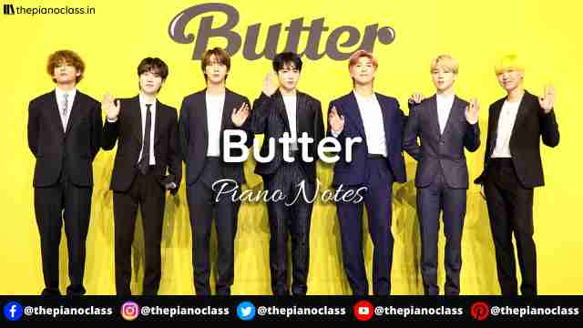 Butter Piano Notes - BTS