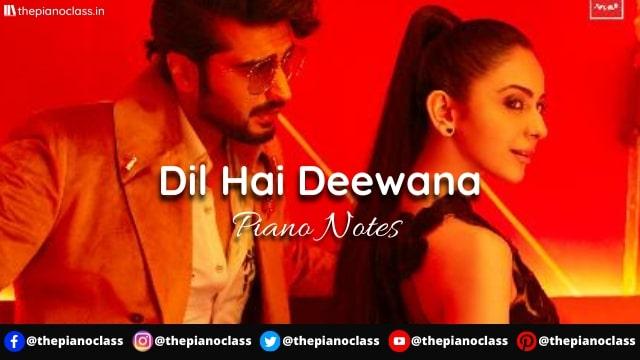 Dil Hai Deewana Piano Notes - Darshan Raval