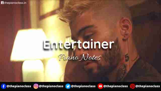 Entertainer Piano Notes - ZAYN